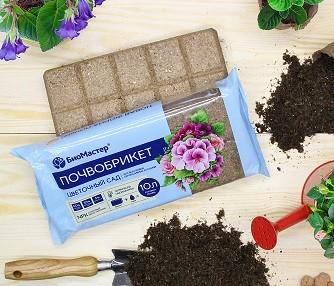 Почвобрикет Цветочный сад 5л, фото , изображение 2