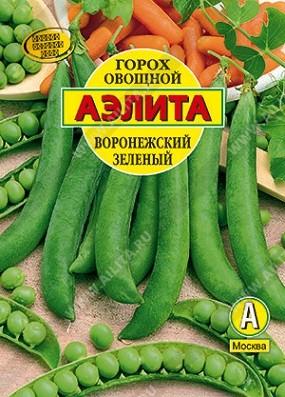 Горох овощной Воронежский зеленый, 25г, фото