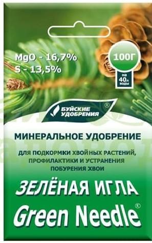 Зеленая Игла (средство от побурения хвои) 100гр. Буй, фото