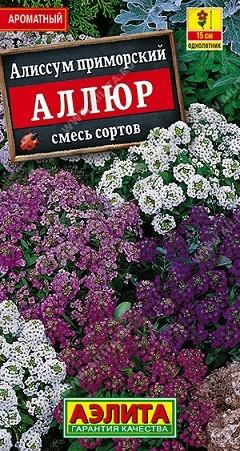 Алиссум Аллюр, смесь сортов, 0,1г, фото
