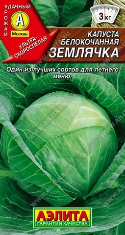 Капуста б/к Землячка, 0,3г, фото