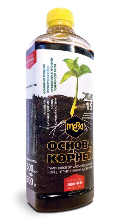 Концентрированное удобрение для корней МЕРА «ОСНОВА КОРНЕЙ» с фульвокислотами, 500мл, фото
